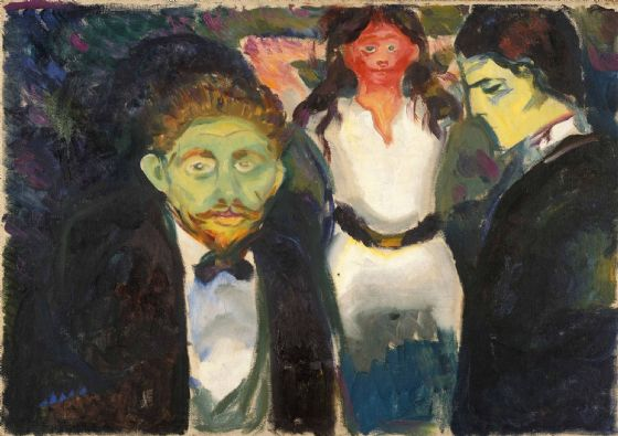 Munch, Edvard: Jealousy. Fine Art Print/Poster. Sizes: A4/A3/A2/A1 (0075)